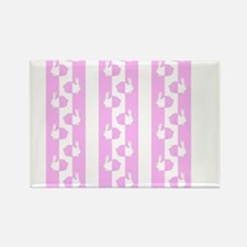 Baby design bunny rabbit pink white Magnets