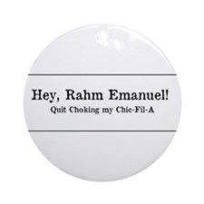 Rahm is Choking What?!? Ornament (Round)