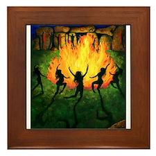 Fire Dance Framed Tile