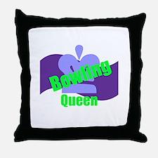 Bowling Queen Throw Pillow