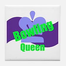 Bowling Queen Tile Coaster