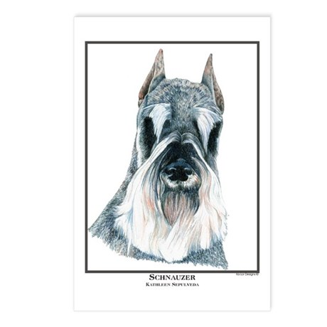 Schnauzer Open Edition Postcards (Package of 8)