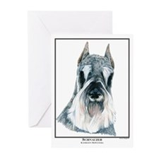 Schnauzer Open Edition Greeting Cards (Package of