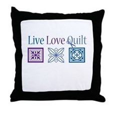 Live Love Quilt Throw Pillow