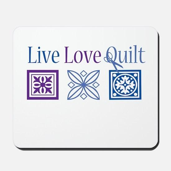 Live Love Quilt Mousepad