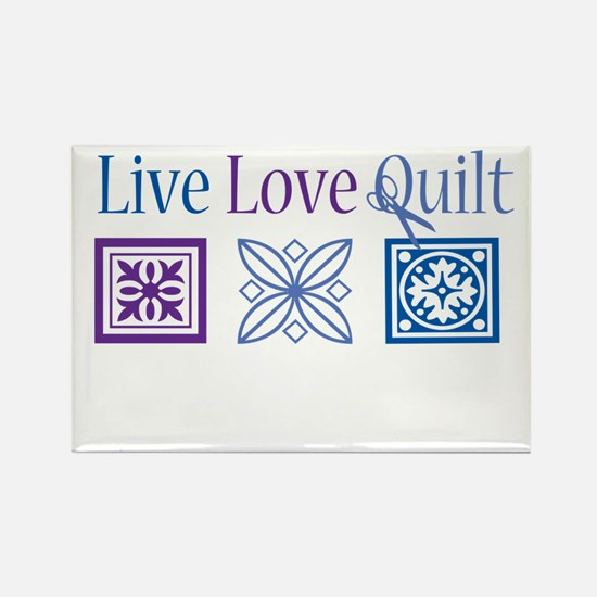 Live Love Quilt Rectangle Magnet