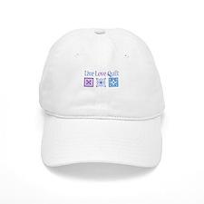 Live Love Quilt Baseball Cap