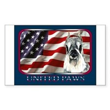 Schnauzer US Flag Patriotic Rectangle Decal