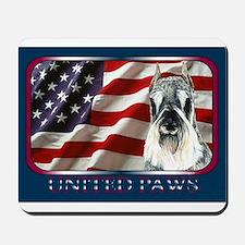 Schnauzer US Flag Patriotic Mousepad