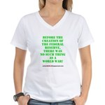 The Federal Reserve and World War Women's V-Neck T