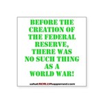The Federal Reserve and World War Square Sticker 3