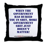 Government buries Throw Pillow