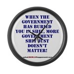Government buries Large Wall Clock