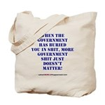 Government buries Tote Bag