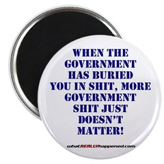 """Government buries 2.25"""" Magnet (10 pack)"""