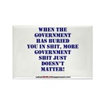 Government buries Rectangle Magnet (100 pack)