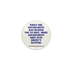 Government buries Mini Button (10 pack)