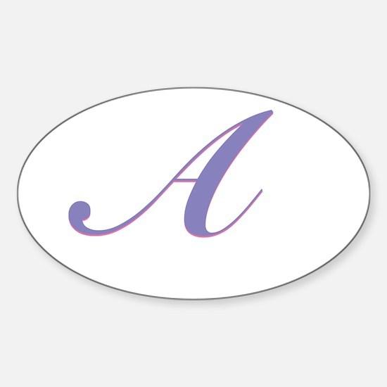 A Purple Sticker (Oval)