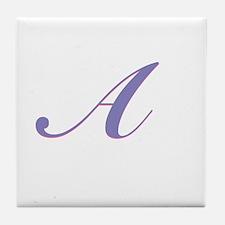 A Purple Tile Coaster