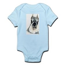 Schnauzer Dog Portrait Infant Creeper