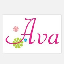 Ava Flowers Postcards (Package of 8)