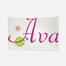 Ava Flowers Rectangle Magnet