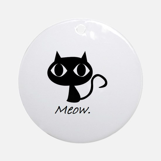 Meow. Ornament (Round)