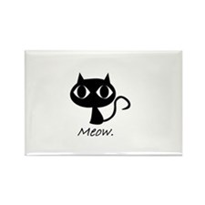 Meow. Rectangle Magnet