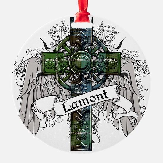 Lamont Tartan Cross Ornament