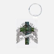 Lamont Tartan Cross Keychains