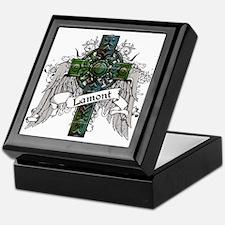 Lamont Tartan Cross Keepsake Box