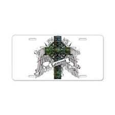 Lamont Tartan Cross Aluminum License Plate