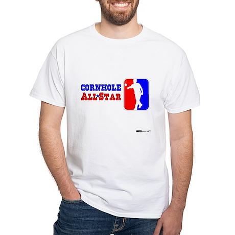 Cornhole AllStar White T-Shirt