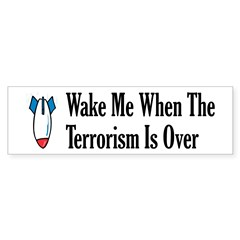 Wake Me Bumper Bumper Sticker
