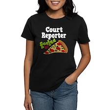 Court Reporter Pizza Tee