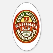 New Zealand Beer Label 8 Sticker (Oval)