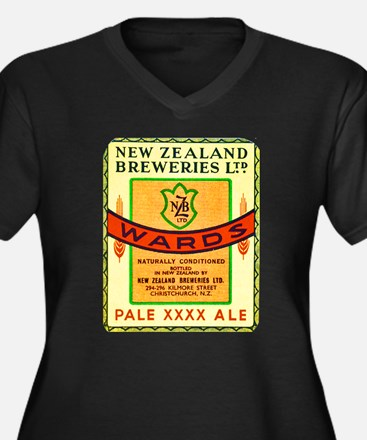 New Zealand Beer Label 3 Women's Plus Size V-Neck