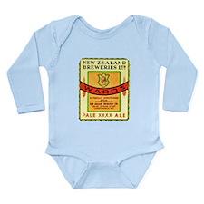 New Zealand Beer Label 3 Long Sleeve Infant Bodysu