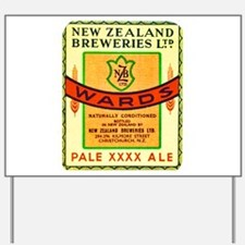 New Zealand Beer Label 3 Yard Sign