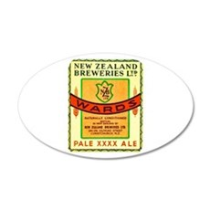 New Zealand Beer Label 3 22x14 Oval Wall Peel