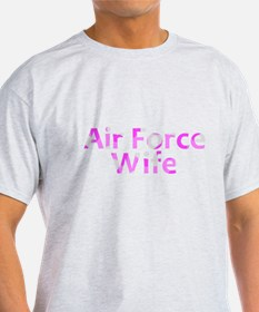 Air Force Wife Pink Camo T-Shirt