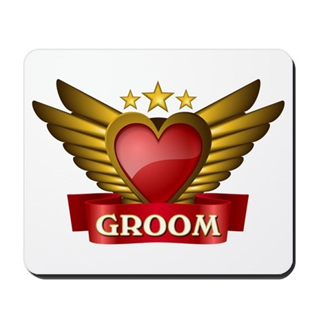 GOLD WING GROOM Mousepad