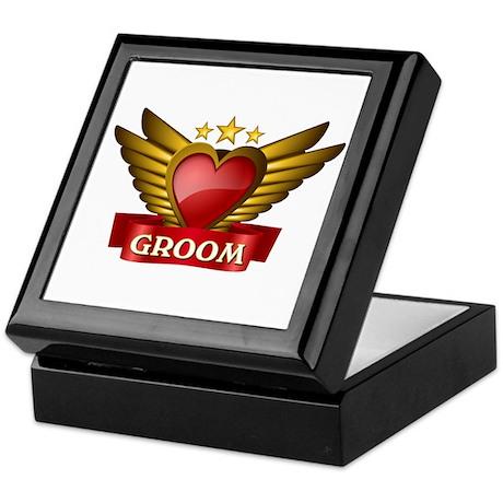 GOLD WING GROOM Keepsake Box