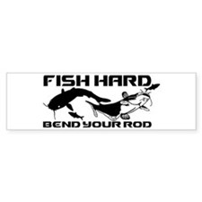 FISH HARD CATFISH Bumper Sticker