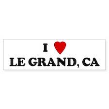 I Love LE GRAND Bumper Bumper Sticker