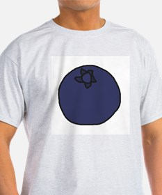 Tasty Blueberry Ash Grey T-Shirt