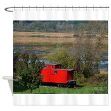 Caboose Whitehall, MI Shower Curtain