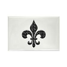 Calligraphy Fleur de lis Rectangle Magnet (100 pac