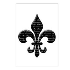 Calligraphy Fleur de lis Postcards (Package of 8)