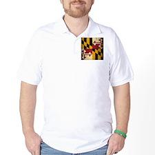 Grunge Maryland Flag T-Shirt